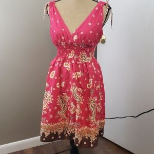 Ambience Apparel paisley, floral tank dress